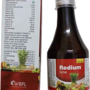 Redium Syrup (Pack of 2 bottles)